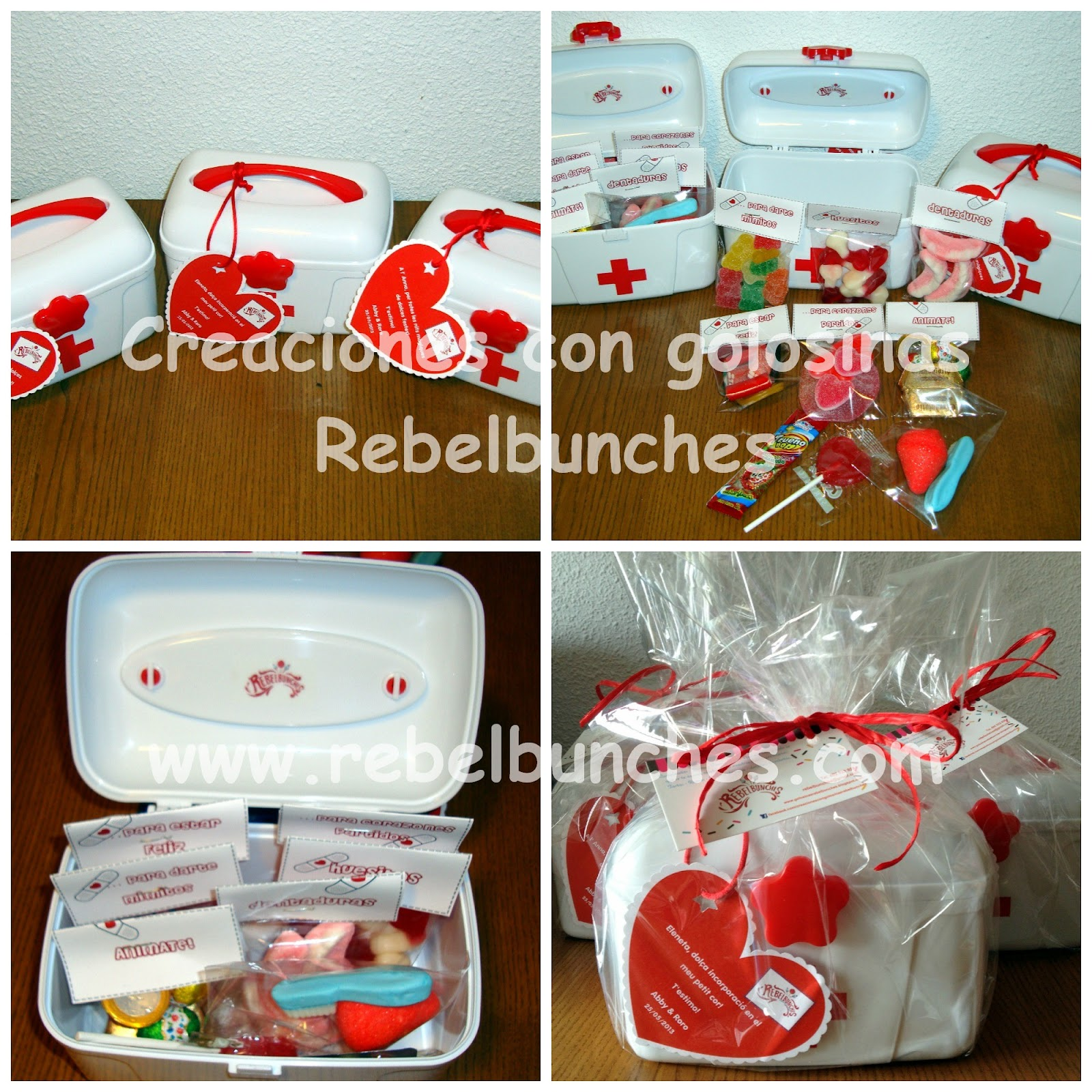 Rebelbunches botiquines de chuches regalos especiales for Regalo para amigas especiales boda