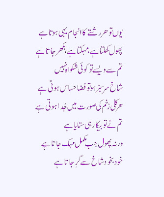 Beautiful Urdu Poetry For All Friends