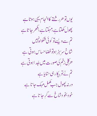 Beautiful Urdu Poetry For All Friends