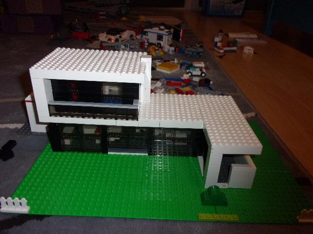 Maquette Maison Moderne la brique bleue: la maison moderne
