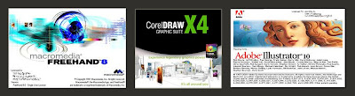 Macromedia Freehand, Corel Draw, Adobe Ilustrator - u ntuk