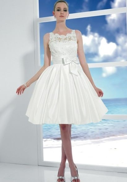 short ball gown wedding dress