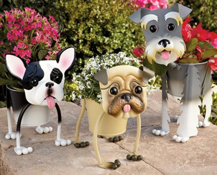 i d e a macetas con forma de perros