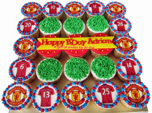 Cupcake Edible Image Manchester United Aisha Puchong Jaya