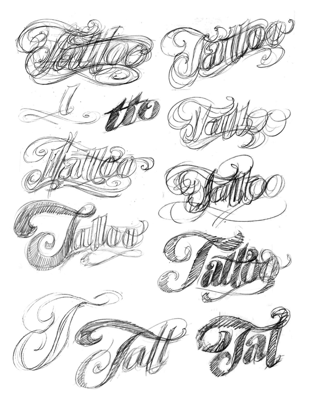 The art of hand lettering the tattoo logo for Letter tattoos on hand
