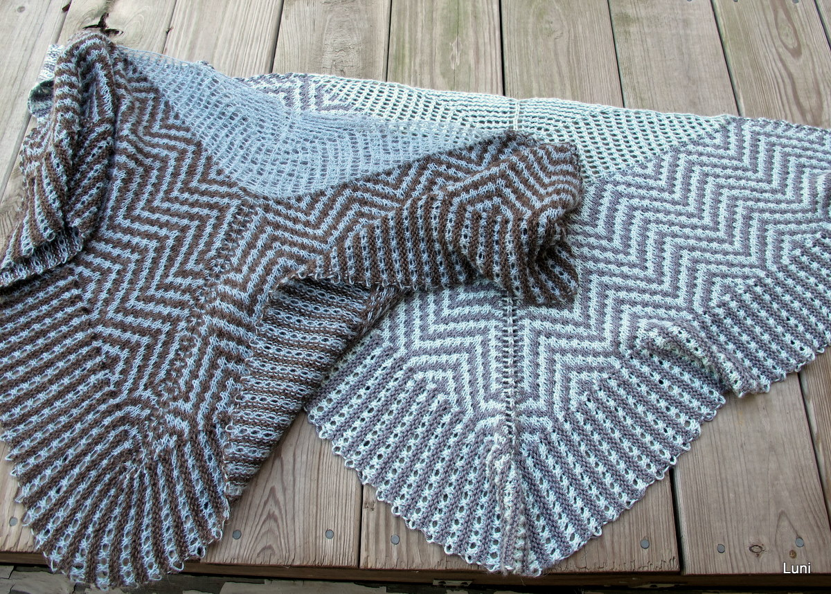3 Sleeves to the Wind: Mathematix shawl, knit again