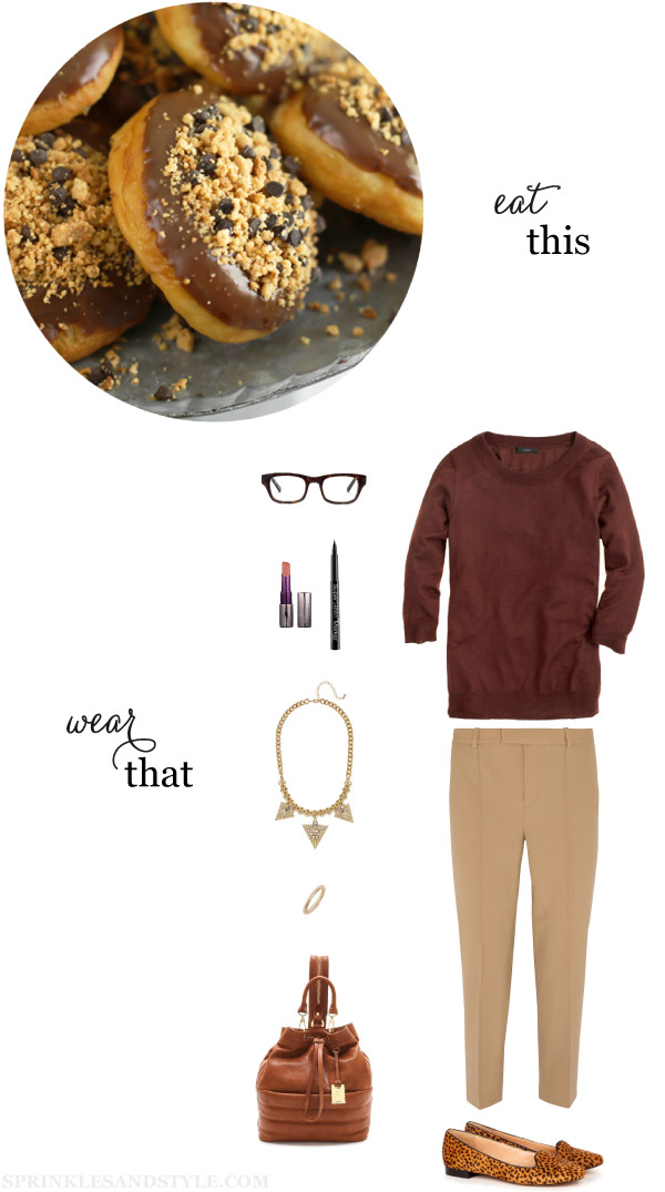 Sprinkles and Style || Eat This, Wear That: Peanut Butter Bourbon-Filled Donuts