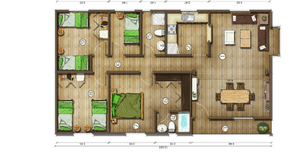 Dise os de casas planos gratis planos de casas gratis 95 m2 for Planos arquitectonicos de casas gratis