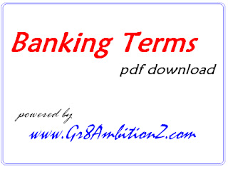 banking terminology for bank exams