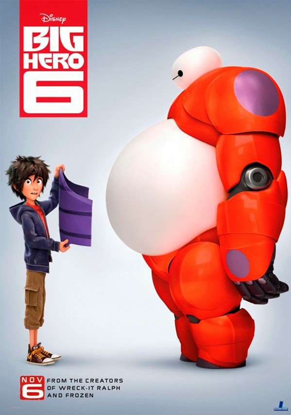 "3º poster Hiro Hamada y Baymax de ""Big Hero 6"""