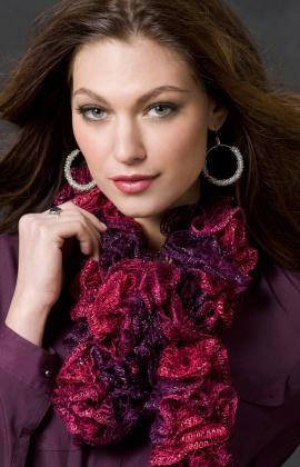 Full Ruffle Crochet Scarf Crochet Pattern | Red Heart