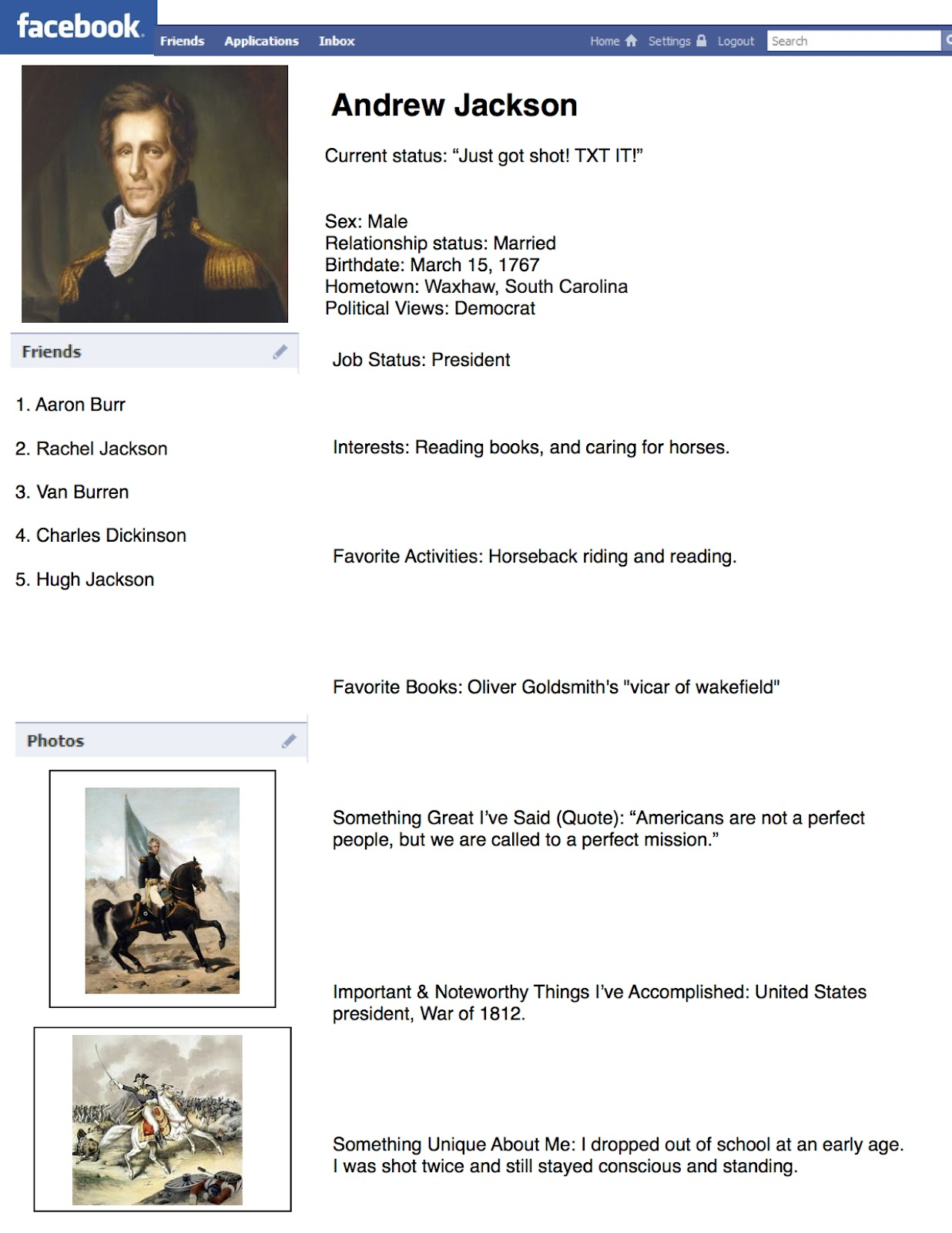 Facebook Templates for Students Project