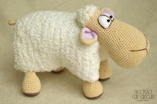 Вязание крючкомигрушка овечка 58
