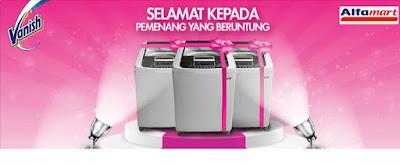 Info Pemenang -  Pemenang Mesin Cuci (Pengundian November 2015) - Promo Vanish Alfamart