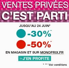 monoprix, ventes privées, promotion