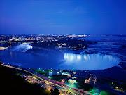Niagara Falls at Night View in Ontario Canada (niagara falls at night ontario canada)