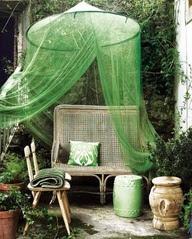 garden, bench, outdoor
