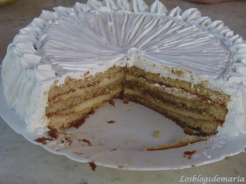 Tarta de merengue y crema