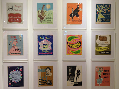 1930s, 40s, 50s and 60s advertising posters at David Jones 175th birthday