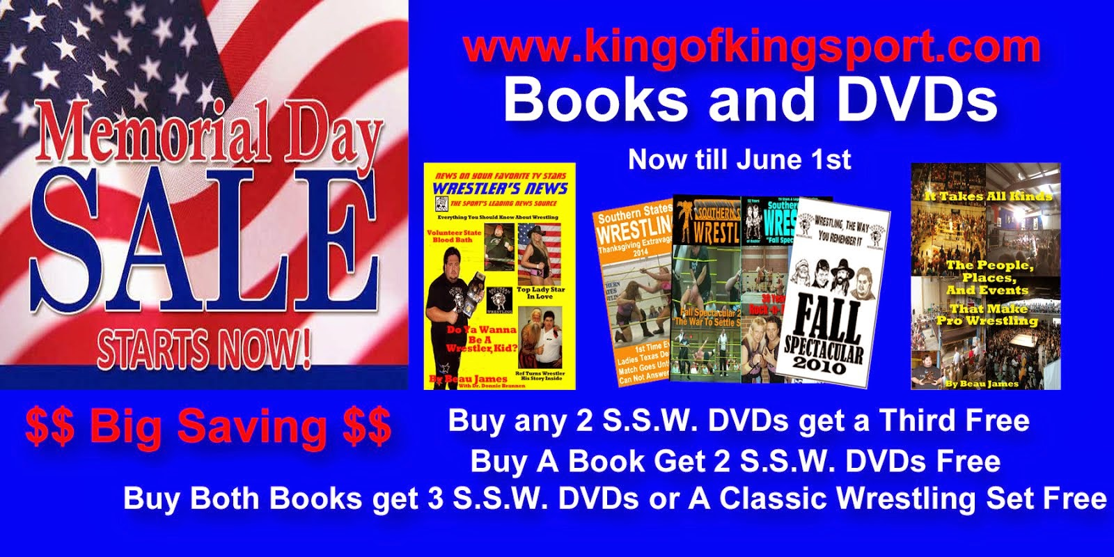 3rd Annual Memorial Day Sale - Books and DVDs with Big Savings