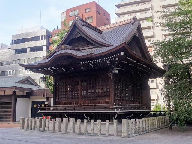 熊野神社,神楽殿,新宿〈著作権フリー無料画像〉Free Stock Photos