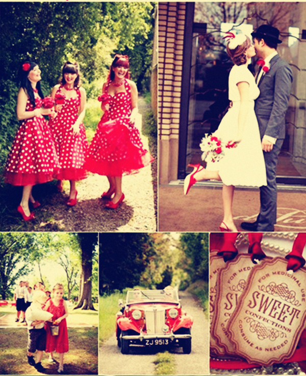 A Vintage Red Theme Wedding
