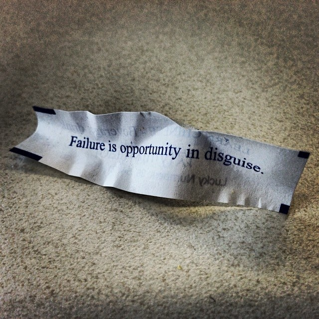failure is opportunity in disguise.