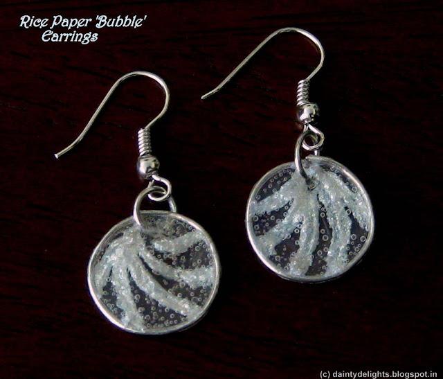 Rice paper 'Bubble' Earrings