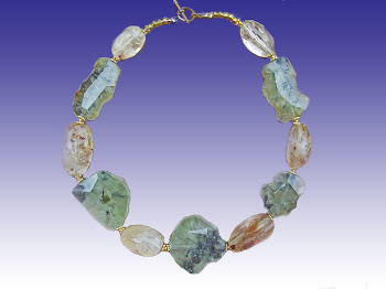 Green Garnet and Natural Citrine Necklace