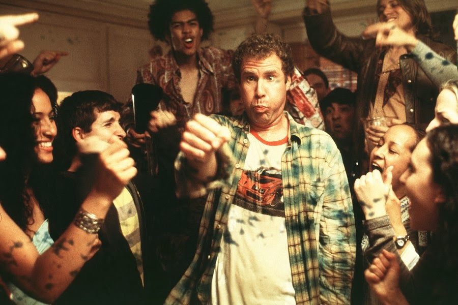 "Will Farrel in a scene in the movie ""Old School,"" where's he's quite drunk."
