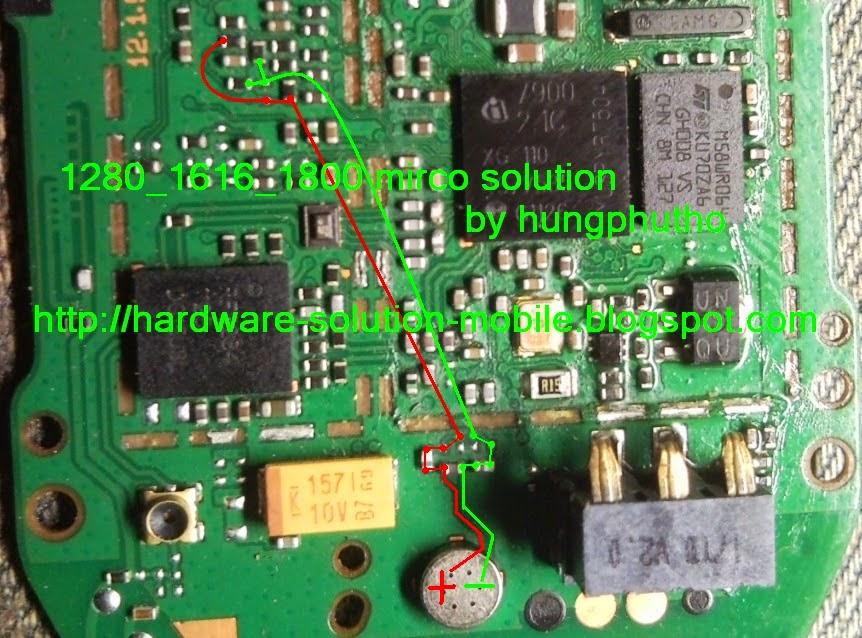 mic solution nokia 1280