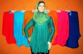 Model baju atasan wanita muslimah terbaru