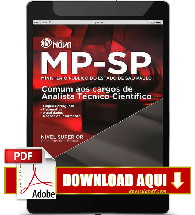 Apostila MP SP 2015 Analista Técnico Científico PDF Download