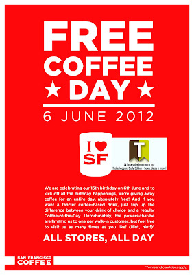 San Francisco Coffee FREE Coffee Day