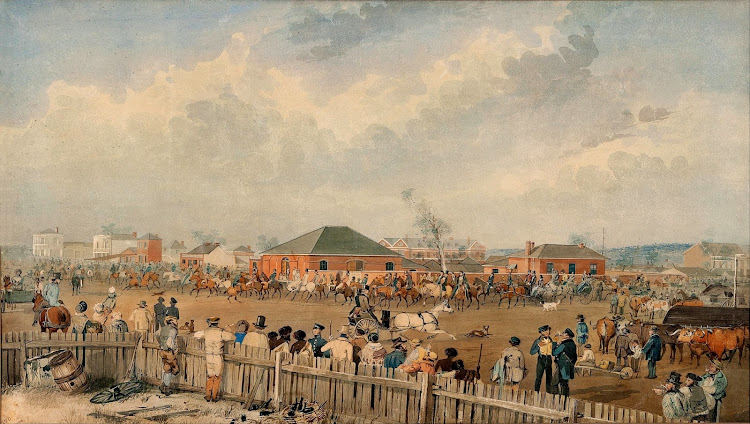 Samuel Thomas Gill - Sturt's Overland Expedition leaving Adelaide 10th August 1844