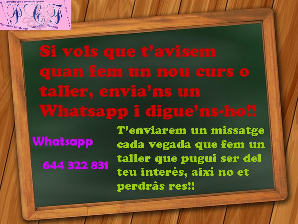 Te avisamos por Whatsapp