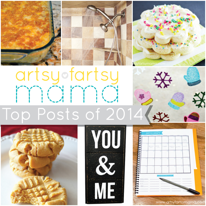 Artsy-Fartsy Mama's Top 10 Posts of 2014 at artsyfartsymama.com