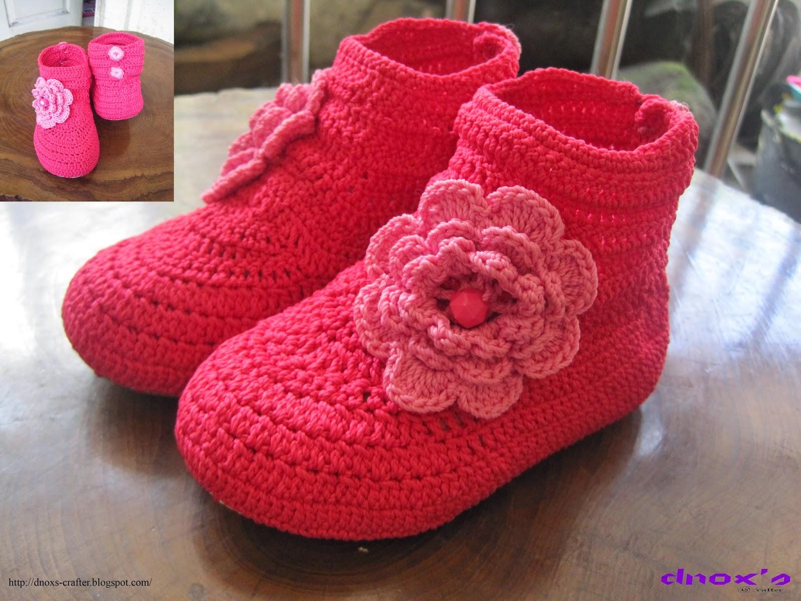 Sepatu rajut karet balita pink