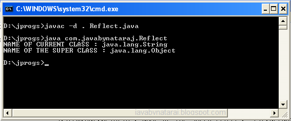 What is Reflection in java_javabynataraj_003