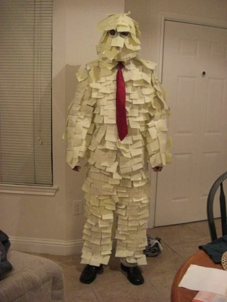 Post It Man Office Space Costume
