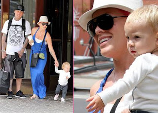 Pink & Carey Hart: Walking with Willow in NYC » Gossip   Pink
