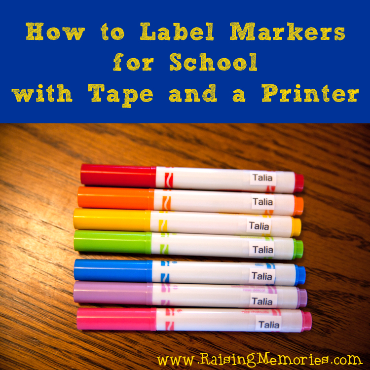 Easy Labels for Back to School by www.RaisingMemories.com