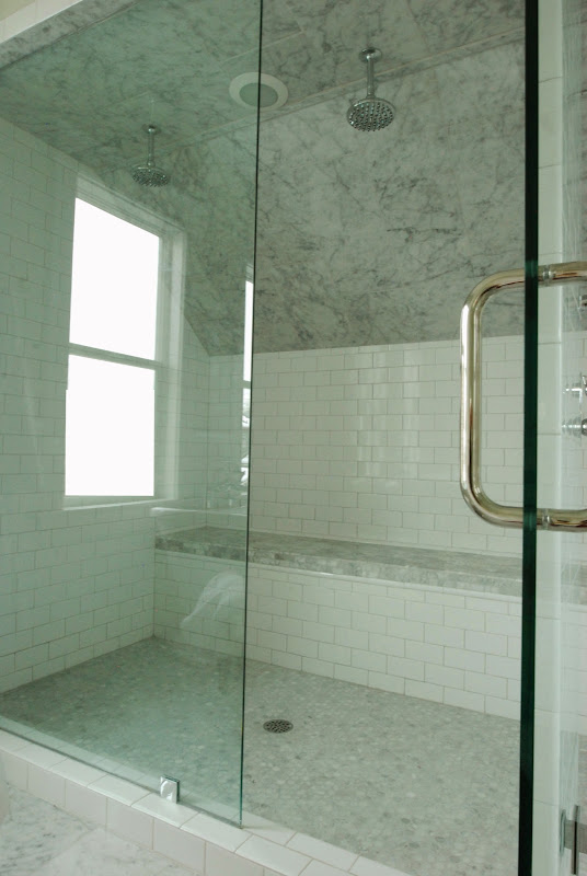 chose polished chrome for the shower door handle shower head and tub title=