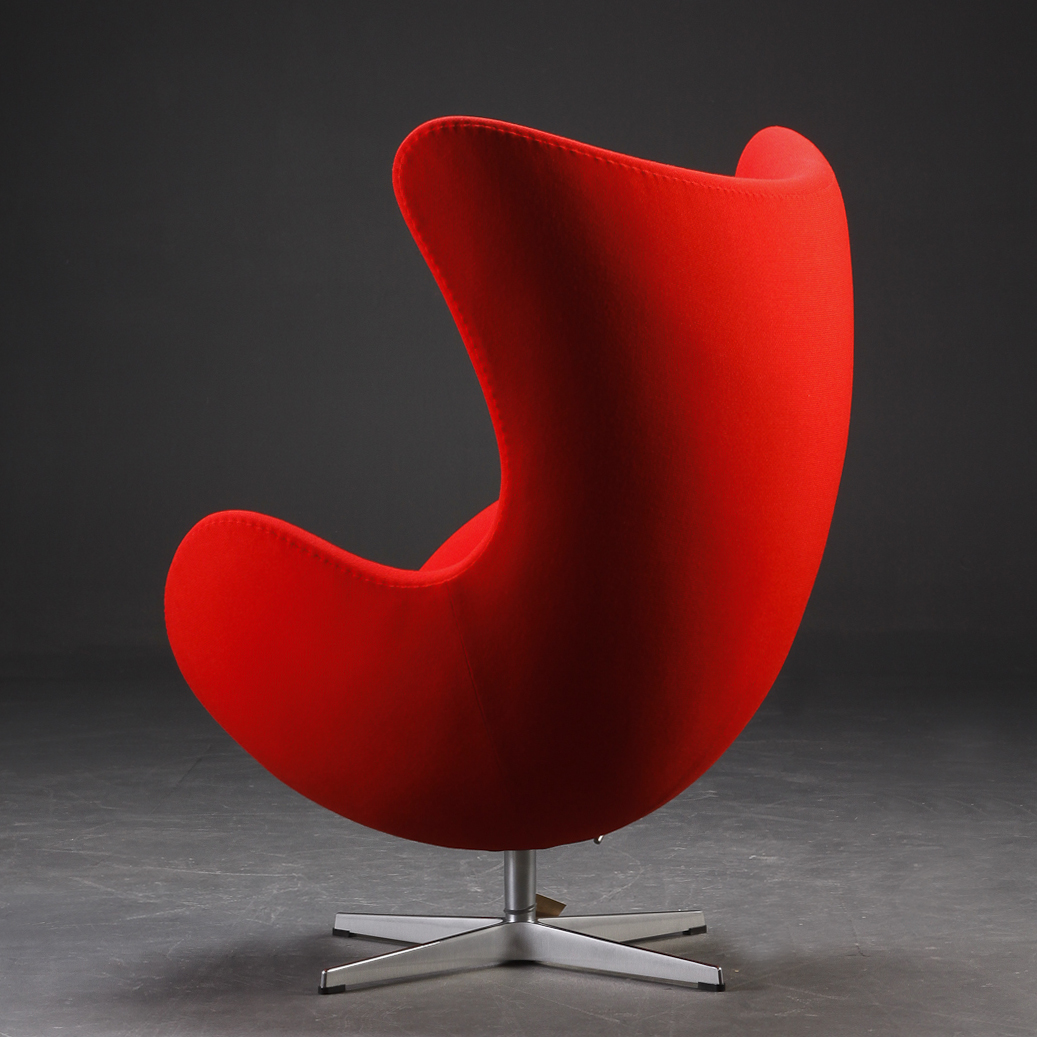 Egg chair woold red fritz hansen furniture for Egg chair jacobsen