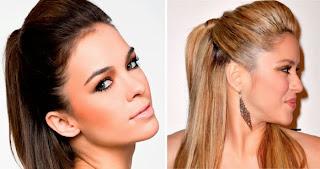penteados fáceis topete feminino