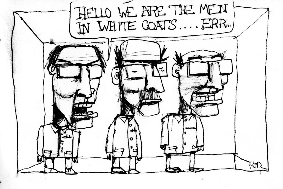 The Pen Mover: Men in white coats