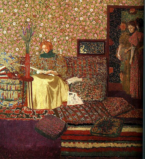 Madame Vuillard lisant de Edouard Vuillard