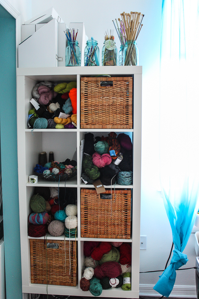 Cube Yarn Storage From Steamy Kitchen Gives You The Option Of Using  Baskets, Open Storage Or Both