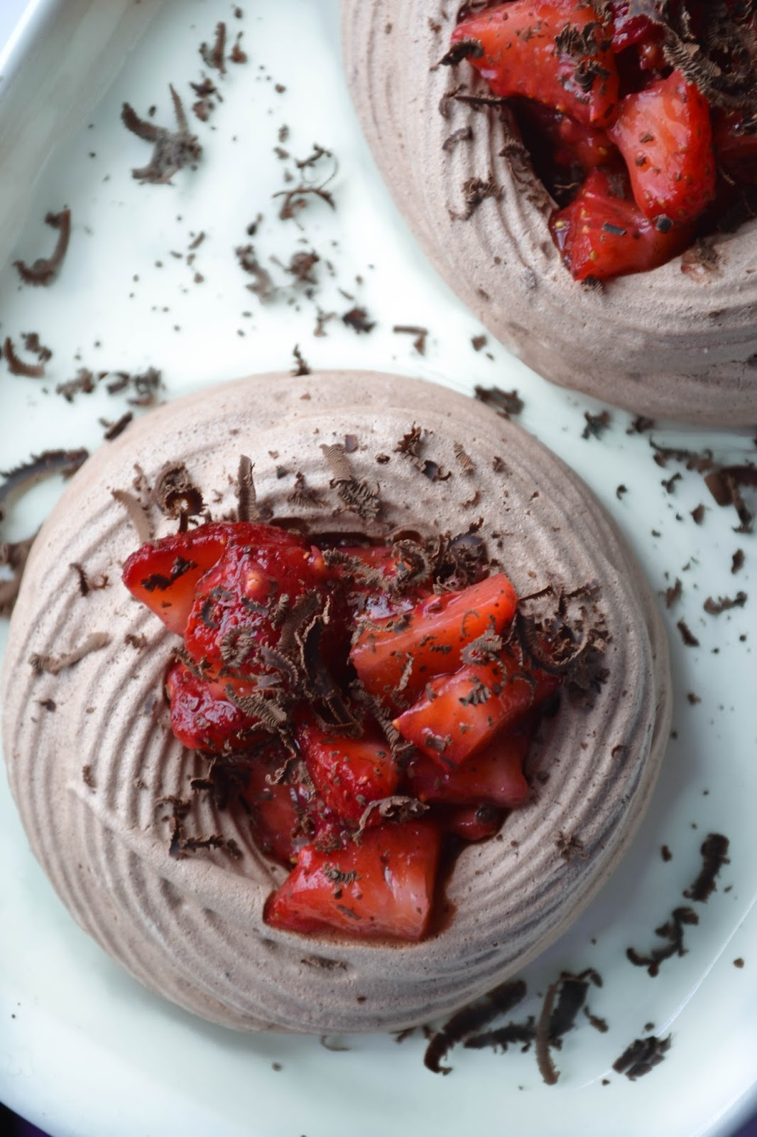 chocolate meringue nests