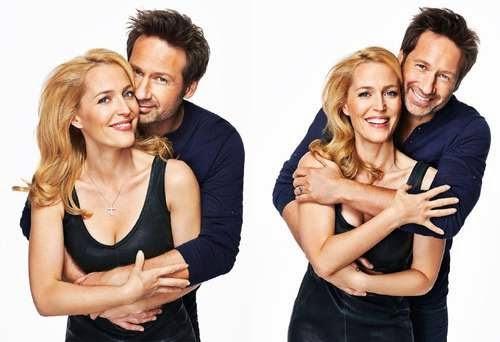 Antes y después: Gillian Anderson & David Duchovny de la serie Los Expedientes X